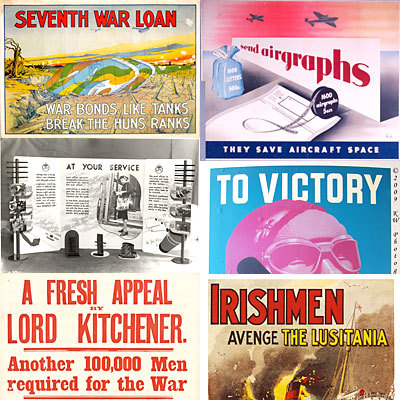 Product picture 350 Vintage WW1 & WW2 Posters Images Pack