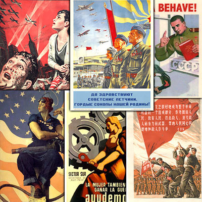 Product picture 350 Vintage Propaganda Posters Collection